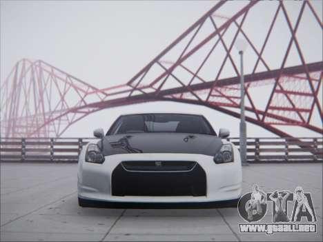 Nissan GT-R R35 Spec V 2010 para GTA San Andreas vista posterior izquierda