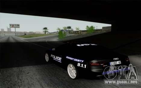 Audi RS5 2011 Police para GTA San Andreas left