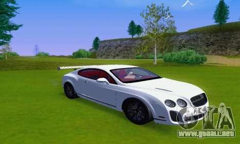 Bentley Continental Extremesports para GTA San Andreas vista posterior izquierda