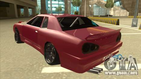 Elegy Drift para GTA San Andreas vista hacia atrás