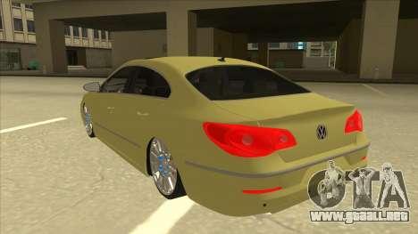 VW Passat CC para GTA San Andreas vista hacia atrás