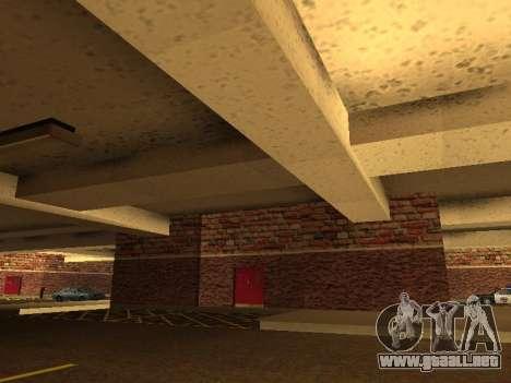 Nuevo garaje interior policía HP para GTA San Andreas tercera pantalla
