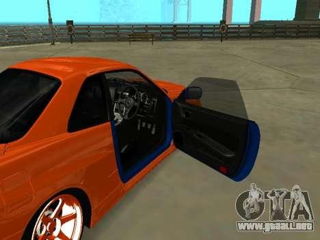 Nissan Skyline R-34 para visión interna GTA San Andreas