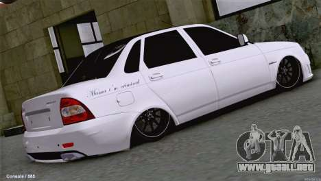 Lada Priora AMG Version para GTA San Andreas vista posterior izquierda