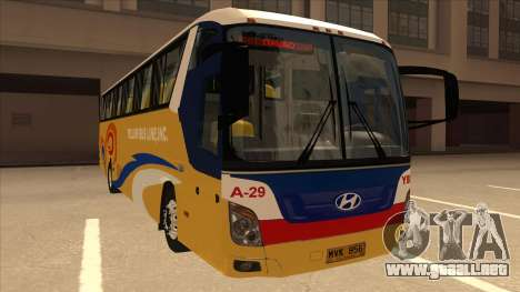 Yellow Bus Line A-29 para GTA San Andreas left