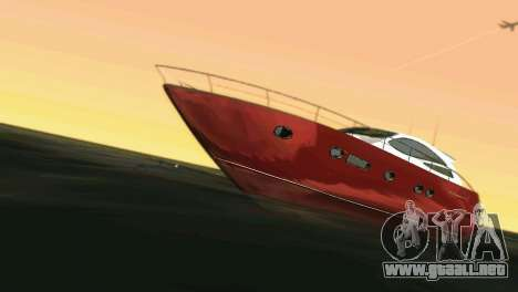 Cartagena Delight Luxury Yacht para GTA Vice City vista lateral izquierdo