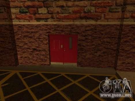 Nuevo garaje interior policía HP para GTA San Andreas sucesivamente de pantalla