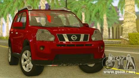 Nissan X-Trail 2009 para GTA San Andreas vista hacia atrás