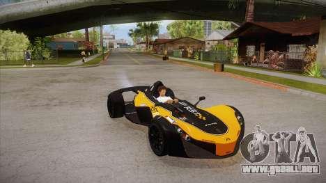 BAC Mono 2011 para vista lateral GTA San Andreas