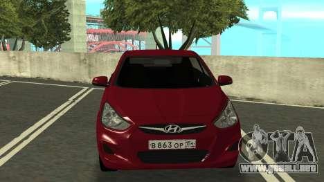 Hyundai Solaris para GTA San Andreas left