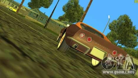 Chevrolet Corvette C3 Tuning para GTA Vice City vista posterior