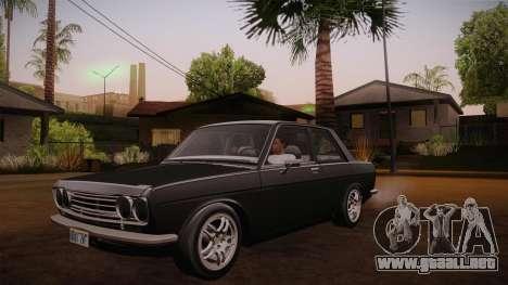 Datsun 510 RB26DETT Black Revel para visión interna GTA San Andreas