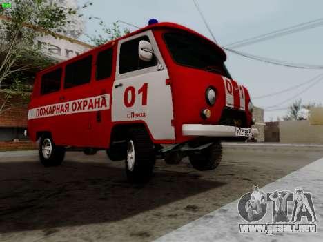 UAZ 452 Fire Staff Penza Russia para visión interna GTA San Andreas