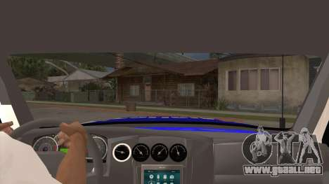 Ford Ranger 2011 Province of Buenos Aires Police para visión interna GTA San Andreas
