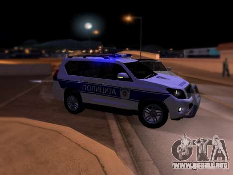 Toyota Land Cruiser POLICE para GTA San Andreas left