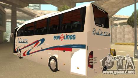 Mercedes-Benz Lasta Bus para GTA San Andreas vista hacia atrás