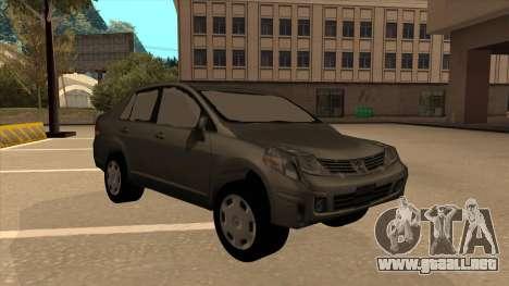 Nissan Tiida sedan para GTA San Andreas left