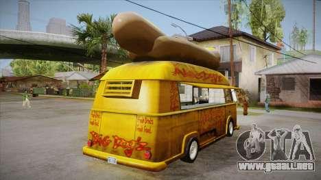 Hot Dog Van Custom para la visión correcta GTA San Andreas