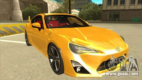 TOYOTA GT86 2JZ-GTE Black Revel para GTA San Andreas left