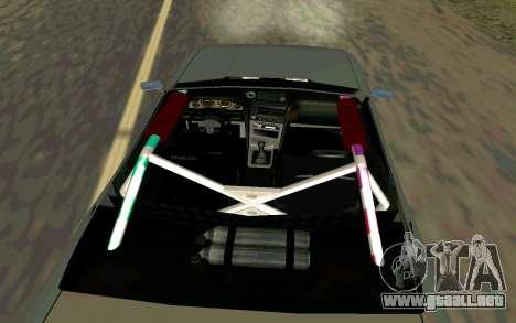 Elegy Cabrio para GTA San Andreas vista posterior izquierda