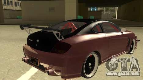 Hyundai Tiburon Coupe Tuning para la visión correcta GTA San Andreas