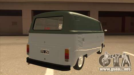 VW T2 Van para la visión correcta GTA San Andreas