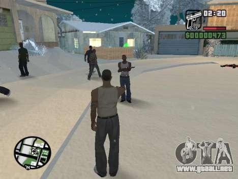 Conmutación entre personajes como GTA V para GTA San Andreas sexta pantalla