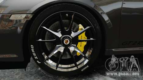 Porsche 997 GT2 2012 Simple version para GTA 4 vista hacia atrás