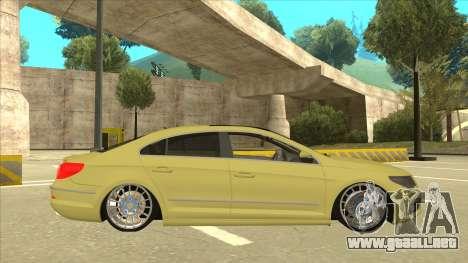 VW Passat CC para GTA San Andreas vista posterior izquierda