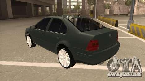 Jetta 2003 Version Normal para GTA San Andreas vista hacia atrás