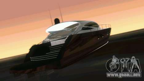 Cartagena Delight Luxury Yacht para GTA Vice City vista interior