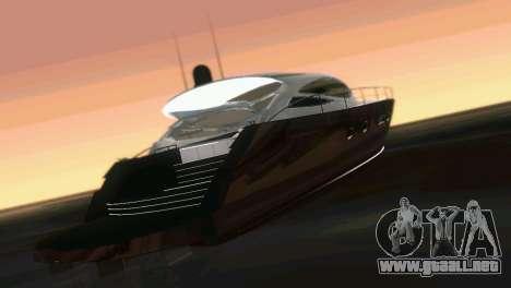 Cartagena Delight Luxury Yacht para GTA Vice City vista interior