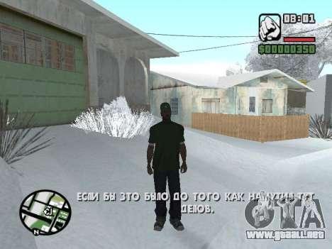 Conmutación entre personajes como GTA V para GTA San Andreas segunda pantalla