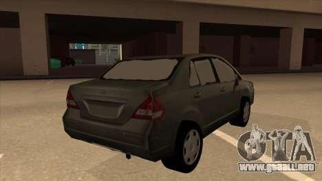 Nissan Tiida sedan para la visión correcta GTA San Andreas