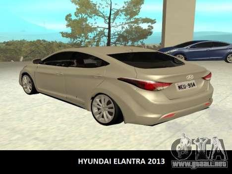 Hyundai Elantra 2013 para GTA San Andreas left