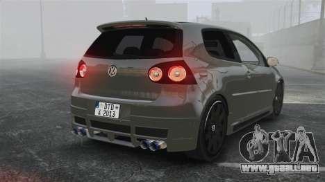 Volkswagen Golf GTi DT-Designs para GTA 4 Vista posterior izquierda