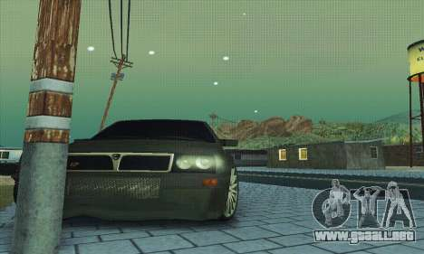 Lancia Delta HF Integrale para vista inferior GTA San Andreas