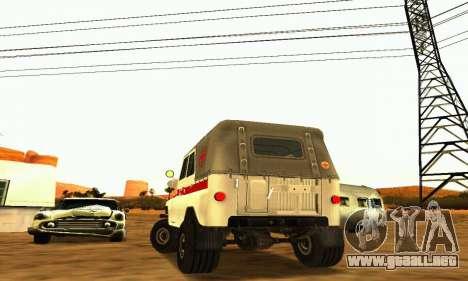 UAZ 469 ambulancia para la visión correcta GTA San Andreas