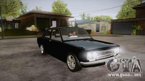 Datsun 510 RB26DETT Black Revel para GTA San Andreas vista hacia atrás