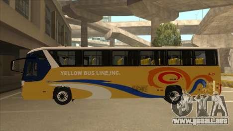 Yellow Bus Line A-29 para GTA San Andreas vista posterior izquierda