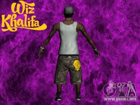 Wiz Khalifa para GTA San Andreas segunda pantalla