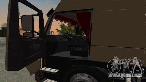 Volvo FM16 para GTA San Andreas vista hacia atrás