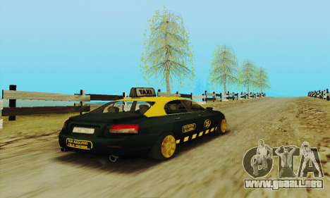 Taxi mercenarios 2 para visión interna GTA San Andreas