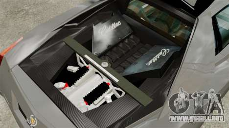 Cadillac Cien XV12 [EPM] para GTA 4 vista hacia atrás