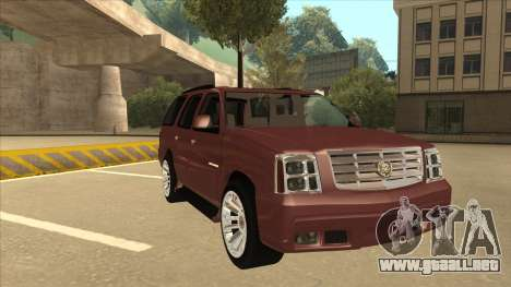 Cadillac Escalade 2002 para GTA San Andreas left