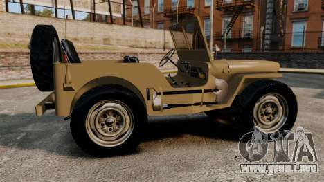 Willys MB para GTA 4 left