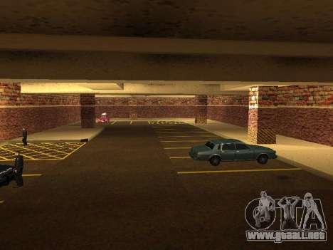 Nuevo garaje interior policía HP para GTA San Andreas quinta pantalla