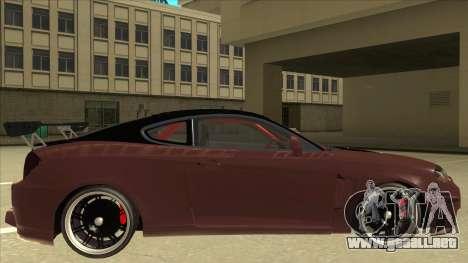 Hyundai Tiburon Coupe Tuning para GTA San Andreas vista posterior izquierda