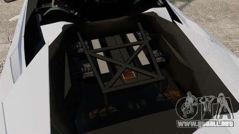 Lamborghini Reventon Roadster 2009 para GTA 4 vista interior