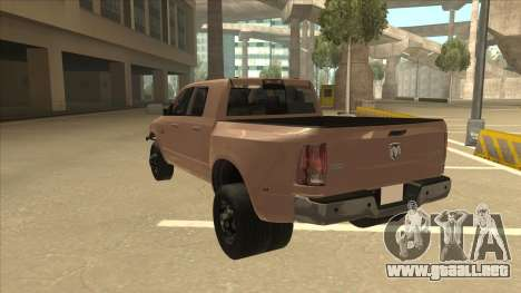 Dodge Ram [Johan] para GTA San Andreas vista hacia atrás